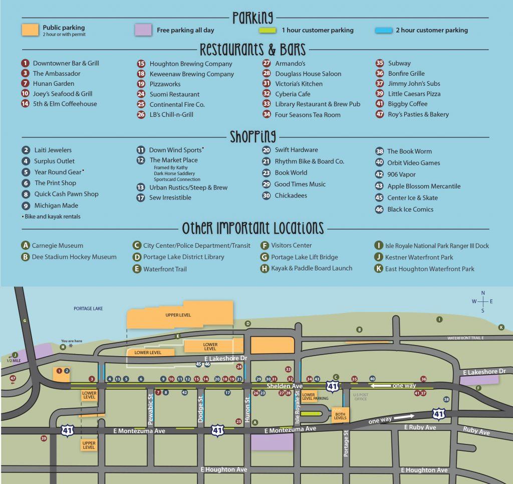 Houghton Walking Map