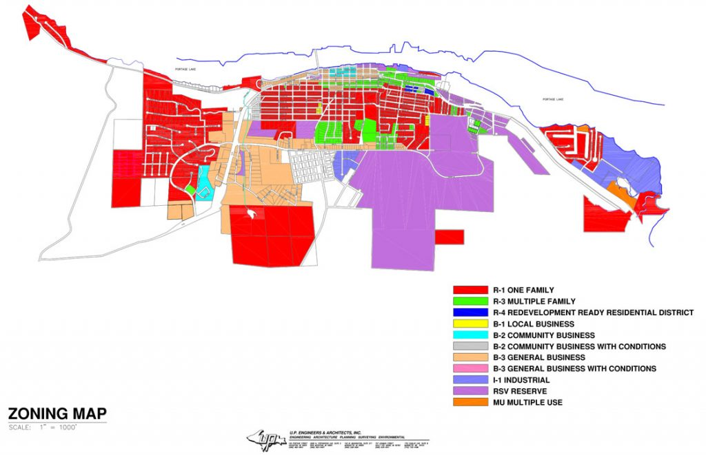 City of Houghton Zoning Map
