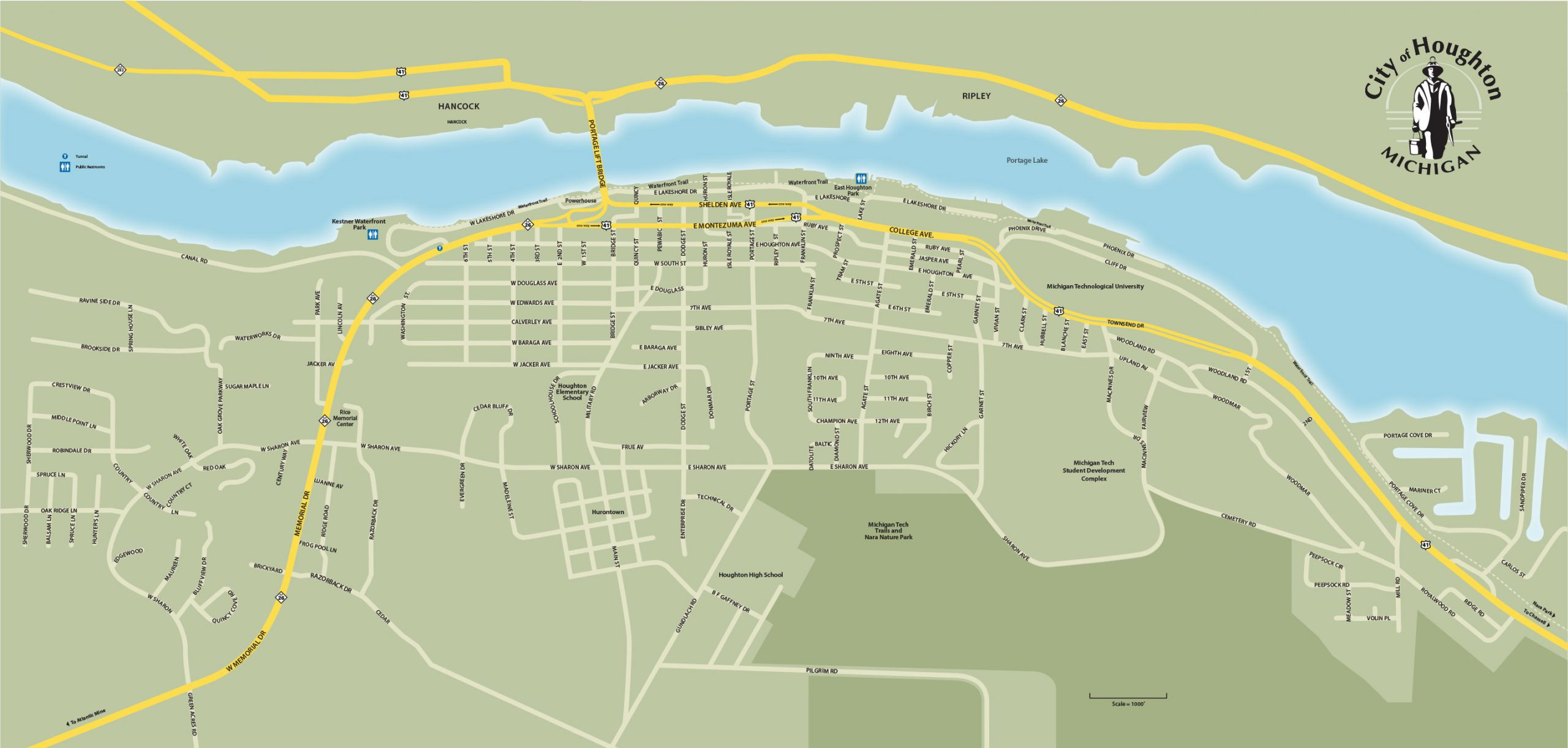 City of Houghton Street Map