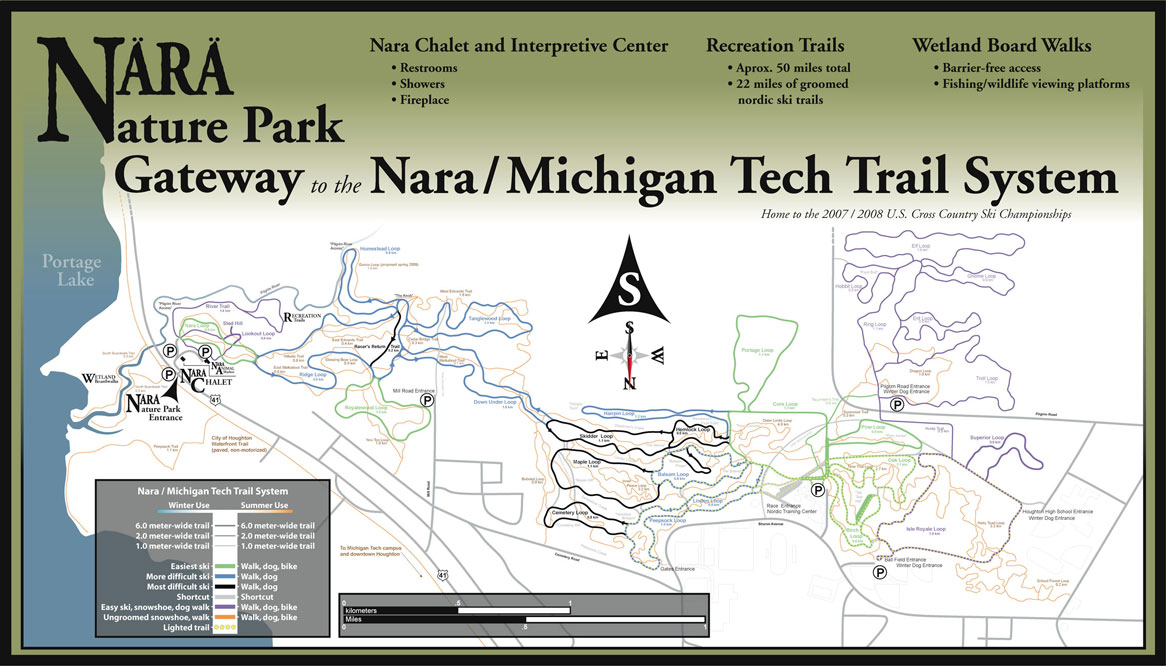 Nara Nature Park Gateway to the Nara/Michigan Tech Trail System Map