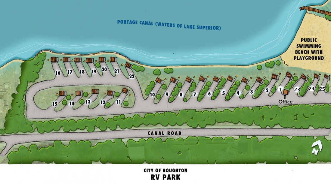 Houghton RV park map