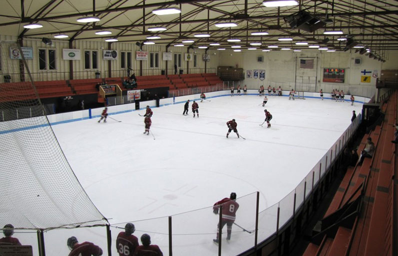 Hockey game at the Dee Stadium in Houghton, Michigan