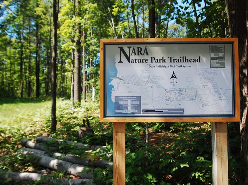 Trailhead map at Nara Nature Park