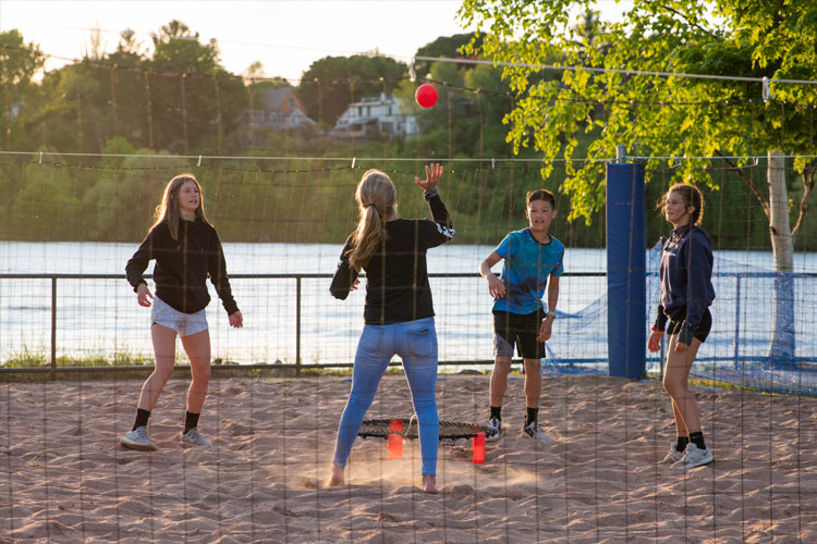 Volleyball court on the waterfront in Houghton