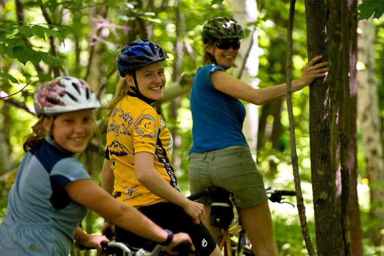 Mountain biking on Houghton trails